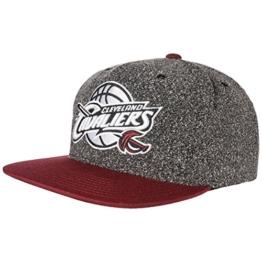 2 Tone Cavs Static Cap Basecap Baseballcap Baseballmütze Kappe Snapback Flatbrim Mitchell & Ness Cap Snapback Cap (One Size - schwarz) -