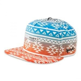 5P Aztec Snapback Cap by Djinns (One Size - orange ) -