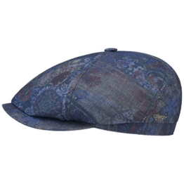 6-Panel Paisley Flatcap Schirmmütze Sommercap Sonnencap Sommermütze Herrencap Cap Kappe Stetson Schirmmütze Baumwollcap (M/56-57 - blau) -