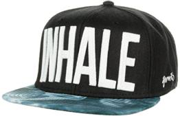 6P Inhale Snapback Flatbrim Cap Djinns Flatbrim Cap Snapback Cap (One Size - schwarz) -
