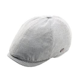 ACVIP Damen/Herren mit Gitter Baumwollmischung Schirmmütze Schiebermütze (Weiß) -