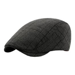 ACVIP Damen/Herren mit Gitter und Streifen Schirmmütze Schiebermütze (Schwarz) -