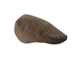 ACVIP Damen/Herren mit Streifen Polyester-Mischung Barett Schirmmütze Flat cap -