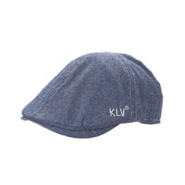 ACVIP Damen/Herren Reine Farbe Freizeit Baumwolle Schirmmütze Schiebermütze (Blau) -