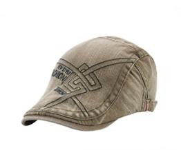 ACVIP Damen/Herrenhut Mustern Freizeit Baumwolle Flat Cap Schirmmütze (Armee-Grün) -