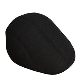 ACVIP Herrenhut Retro Stil Polyester Barett Schirmmütze Schlägermütze (Schwarz) -