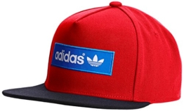 adidas Damen Cap Trefoil Flat-Brim, Collegiate Red/Black/Bluebird, One size, M30683 -