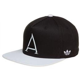 adidas Herren Black and White Snap Back Kappe, Black/White, OSFM -