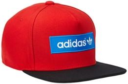 adidas Herren Cap Trefoil Flat-Brim, Collegiate Red/Black/Bluebird, One size, M30683 -