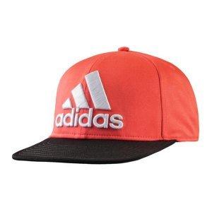 adidas Herren Flatbrim Fitted Cap mit UV Schutz UPF 50+ rot -