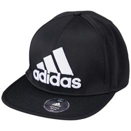 adidas Kappe Flat Brim Cap Fitted, Schwarz, One size, S20551-OSFL -