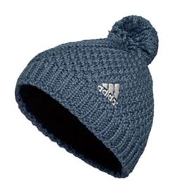 Adidas Pudelmütze mit Bommel, Farbe:blau, Größe:M -