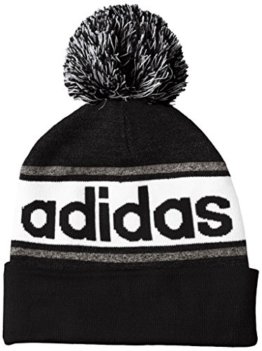 adidas Uni Pudelmütze Performance Bommelmütze Mütze, Black/Dark Grey Heather, OSFM -