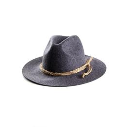 ALMBOCK Trachtenhut Herren schwarz anthrazit H1 | Tirolerhut aus echtem Wollfilz | schwarzer Hut als Oktoberfest Accessoire in M, L, XL -
