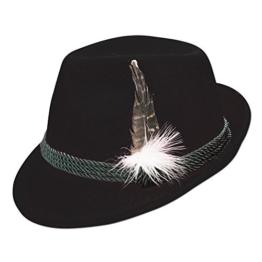 Alpenflüstern Damen Trachten-Filzhut mit Hutfeder ADV02500M00 schwarz -