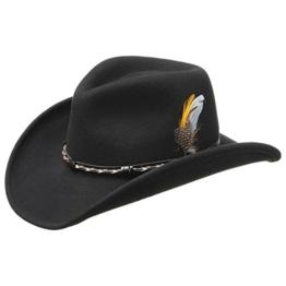 AMASA SCHWARZ Westernhut Cowboyhut Filzhut aus Vitafelt von Stetson - L/58-59 -