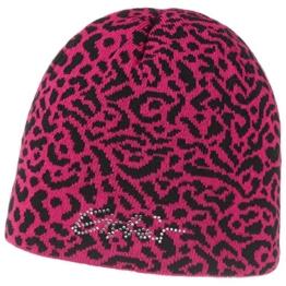 Animal Crystal Mütze mit Swarovski-Steinen Strickmütze Beanie Eisbär Beanie Wintermütze (One Size - pink) -