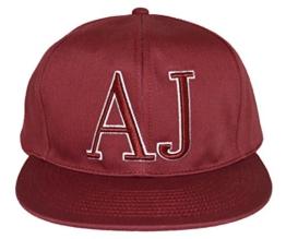 Armani Jeans Logo Baseball Hat Rot Ein Größe -