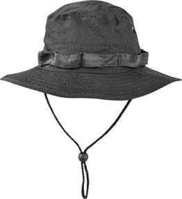 Australian Outdoor Hut Boonie Hat in vielen Farben und Grössen Farbe Schwarz Größe L -