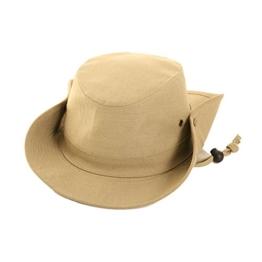 Australierhut Buschhut mit Kinnband und seitlichen Druckknöpfen Unisex (59 cm, khaki) -