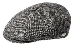 Bailey Galvin tweed Ballonmütze Schirmmütze Newsboy Cap 8-teilig - black S/54-55 -