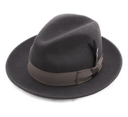 Bailey of Hollywood - Fedora Hut Herren BLIXEN - Size S - gris-ba000 -