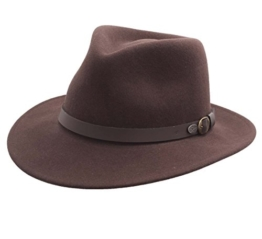 Bailey of Hollywood - Fedora Hut herren BRIAR - Size M - marron -
