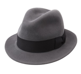 Bailey of Hollywood - Fedora Hut Herren Bogan - Size XL - gris -