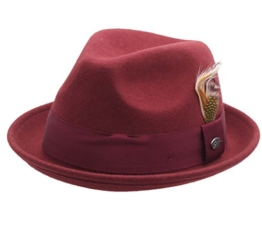 Bailey of Hollywood - Trilby Hut herren Cloyd - Size L - oxblood -