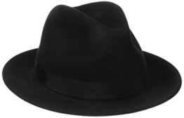 Bailey of Hollywood Winters Bogarthut Fedora Hut Herrenhut Wollfilzhut Traveller Bogarthut Herrenhut (S/54-55 - schwarz) -