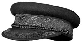 Balke Prinz-Heinrich-Mütze Kapitänsmütze schwarz marine, Farbe:schwarz, Größe:55 -