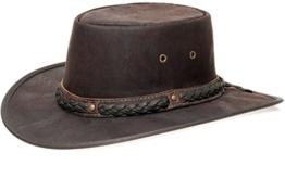 Barmah 1018 Kangaroo Crackle Lederhut / braun Size XXL / 61-62 cm -