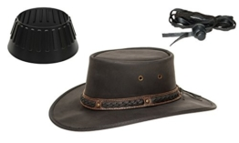 Barmah 1022 Squashy Bronco Cooper Crossing Lederhut aus Australien + Hutablage & Kinnriemchen | Schwarz / Black | Size L -