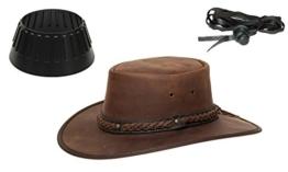 Barmah 1022 Squashy Bronco Cooper Crossing Lederhut aus Australien + Hutablage & Kinnriemchen | Braun / Brown | Size XL -