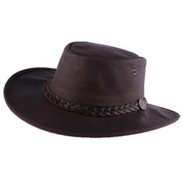 Barmah Hats - Chapeau Cuir Marron Sundowner Barmah Hats Homme / Femme Gr. 100, Braun - Braun -