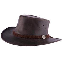 Barmah Hats–Hut Leder braun Brady Oil von Barmah Hats Damen/Herren Gr. X-Large, braun -
