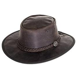 Barmah Outback-Hut Bronco, Leder, faltbar, Braun Gr. Large, Braun - Braun -