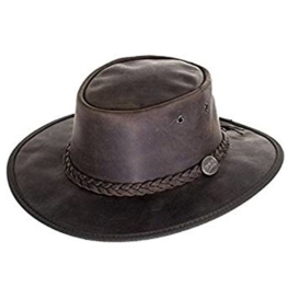 Barmah Outback-Hut Bronco, Leder, faltbar, Braun Gr. X-Large, Braun - Braun -