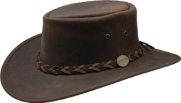 Barmah - Squashy Bronco - Australian Leather Hat M (55-56) -