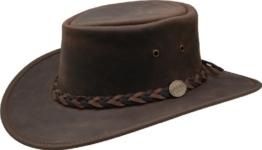 Barmah - Squashy Bronco - Australian Leather Hat M (55-56) -