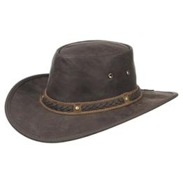 Barmah Squashy Crackle Kangaroo Traveller Outdoorhut Rollhut (L/58-59 - braun) -