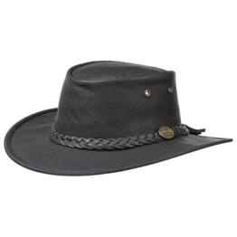 Barmah Squashy Sundowner Kangaroo Westernhut Outdoorhut Stockman (XL/60-61 - schwarz) -