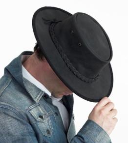 Barmah versenkbarer Aussie Bronco Hat, schwarz (1060) Medium 56cm, schwarz) -