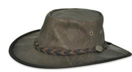 Barmah versenkbarer Soft Känguru Hat, Crackle Braun (1018) Gr. L, Braun - Braun -