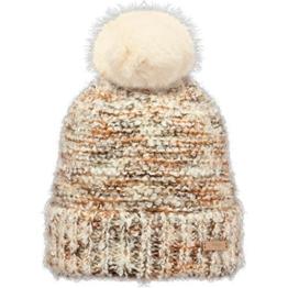 Barts Damen Mütze Siret Beanie, Mehrfarbig (Beige Con Sfumature Bianche Con Pom Pom Di Pelo Bianco ), UNI -