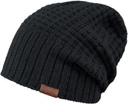 Barts Herren Strickmütze 15-0000000749 Schwarz (Black) One Size -