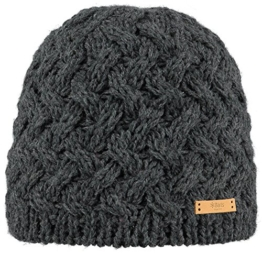 Barts Swirlie Beanie Damen Strickmuetze  Dark Heather -