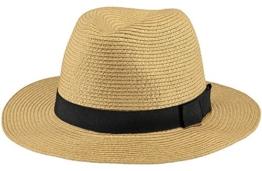 BARTS Unisex Fedora, Aveloz Hat, GR. M (Herstellergröße: M), Mehrfarbig (beige con cordoncino nero) -
