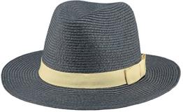 BARTS Unisex Fedora Aveloz Hat, Mehrfarbig (Blu Con Cordoncino Beige), L (Herstellergröße: L) -