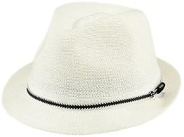 BARTS Unisex Fedora, Saffron Hat, GR. M (Herstellergröße: M), Mehrfarbig (bianco con cordoncino nero) -